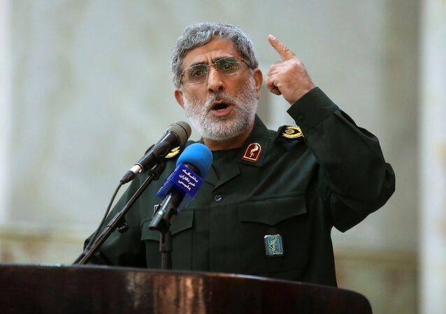 El brigadier general Esmail Ghaani