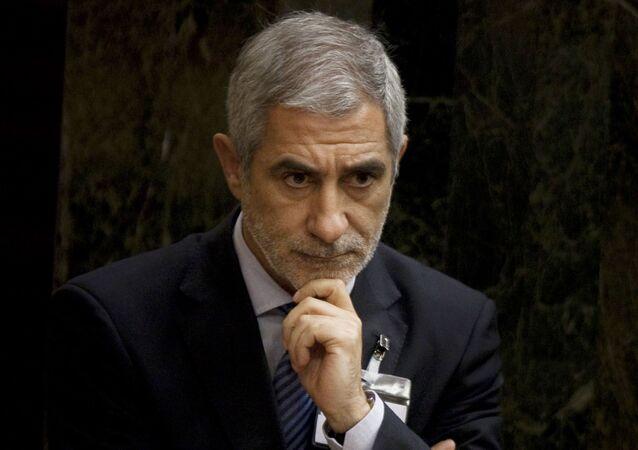 Gaspar Llamazares, líder de la formación de izquierda Actúa