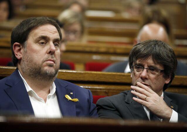 El expresidente catalán Carles Puigdemont y el exvicepresidente Oriol Junqueras