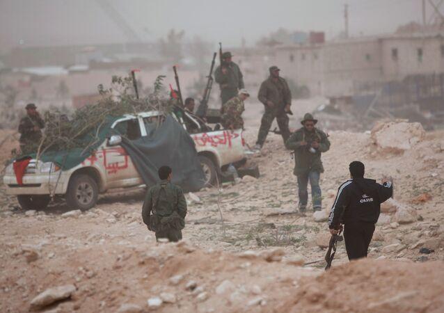 Los combatientes del Ejército Nacional Libio (archivo)