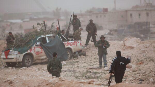 Los combatientes del Ejército Nacional Libio (archivo) - Sputnik Mundo