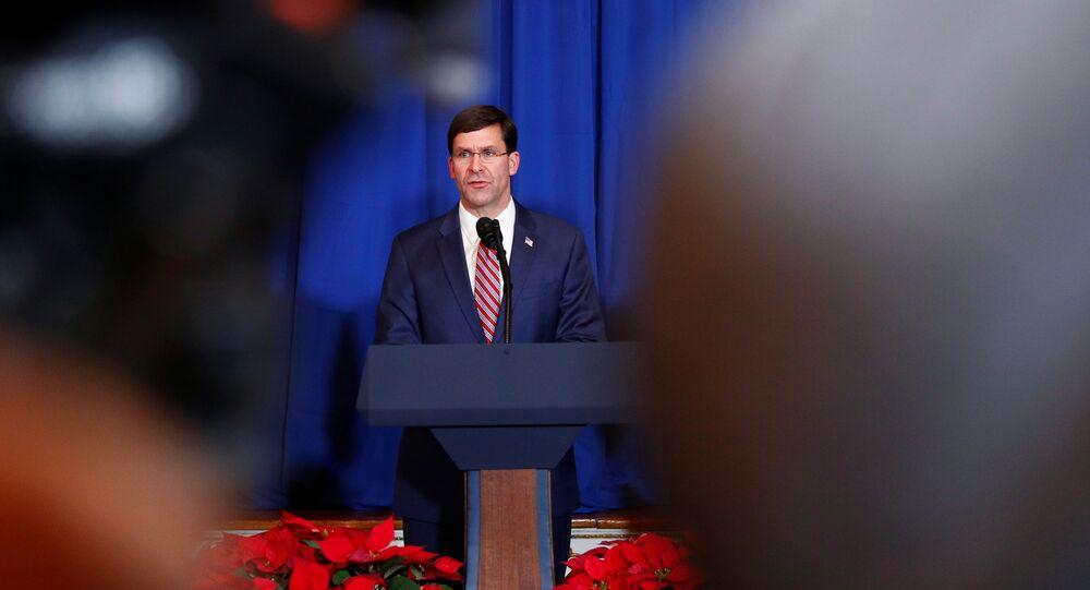 Mark Esper, el secretario de Defensa de EEUU
