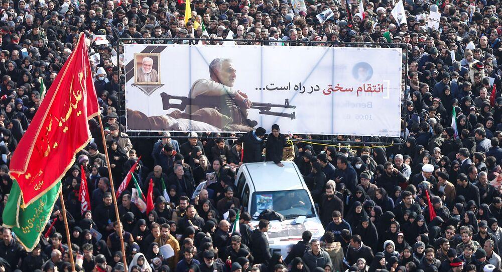 El pueblo iraní se despide del general Soleimani, asesinado por EEUU