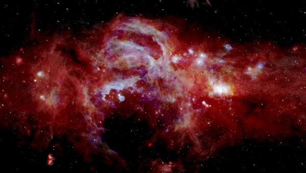 Imagen infrarroja del centro de la Vía Láctea - Sputnik Mundo