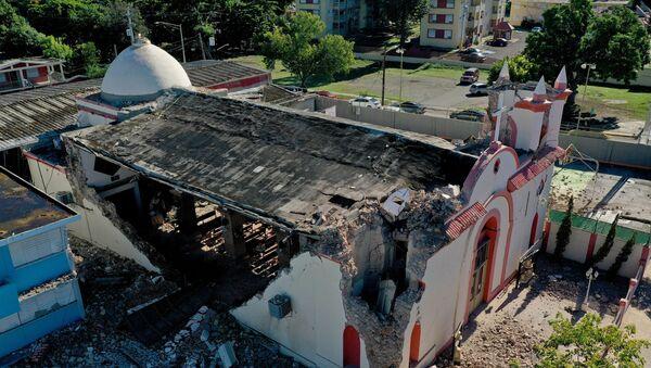 El rastro de destrucción dejado por los terremotos en Puerto Rico - Sputnik Mundo