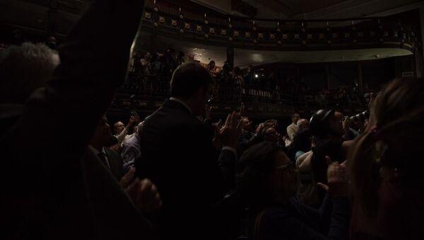 Opositores venezolanos en la Asamblea Nacional - Sputnik Mundo