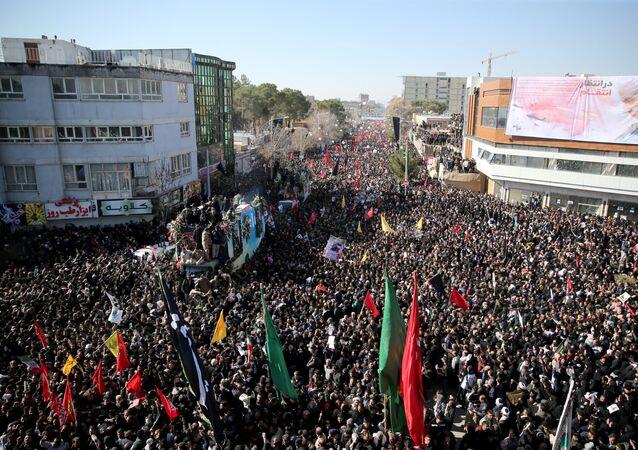El funeral de del general Qasem Soleimani en Kerman, irán