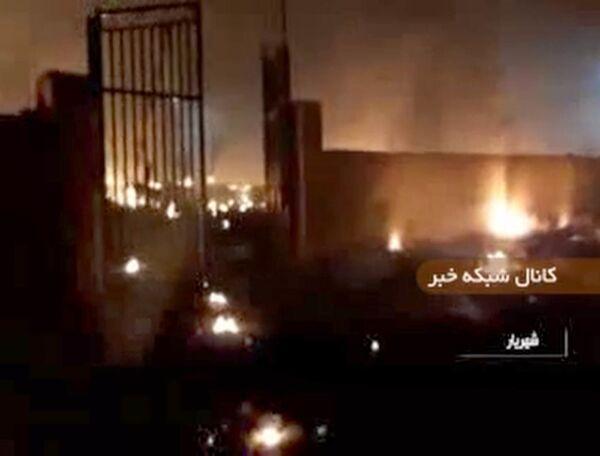 Una captura de pantalla de un vídeo del lugar del accidente aéreo en Irán - Sputnik Mundo