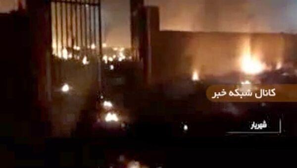 Una captura de pantalla de un vídeo del lugar del accidente aéreo del Boeing 737 en Irán.  - Sputnik Mundo