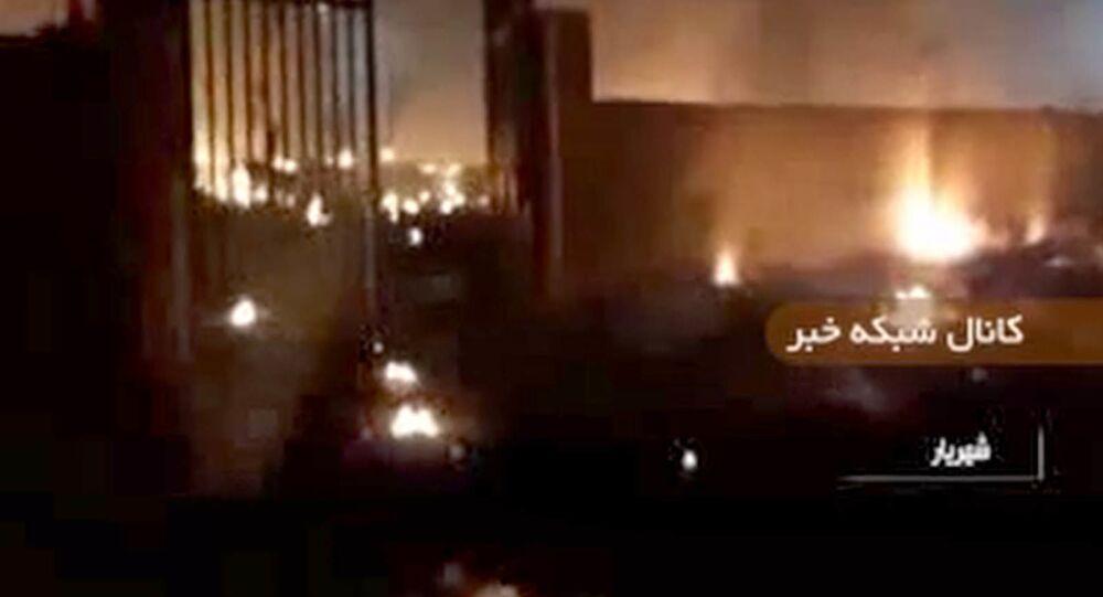 Una captura de pantalla de un vídeo del lugar del accidente aéreo del Boeing 737 en Irán.