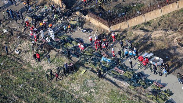 На месте крушения самолета в Иране - Sputnik Mundo