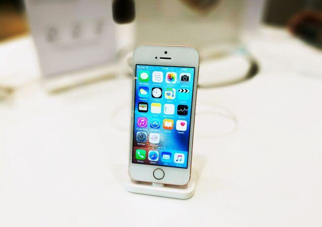 Un iPhone SE, foto de archivo