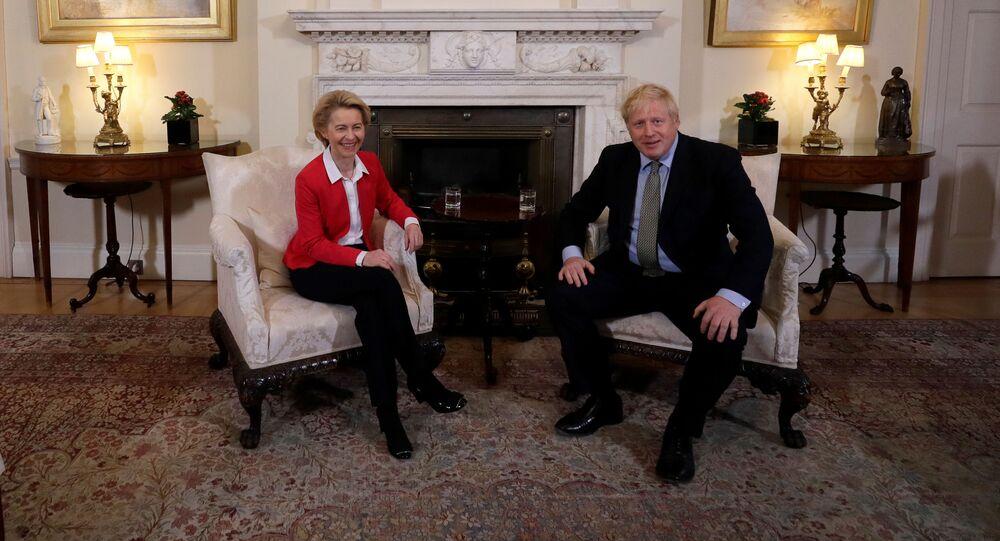 El primer ministro del Reino Unido, Boris Johnson, y la presidenta de la Comisión Europea, Ursula von der Leyen