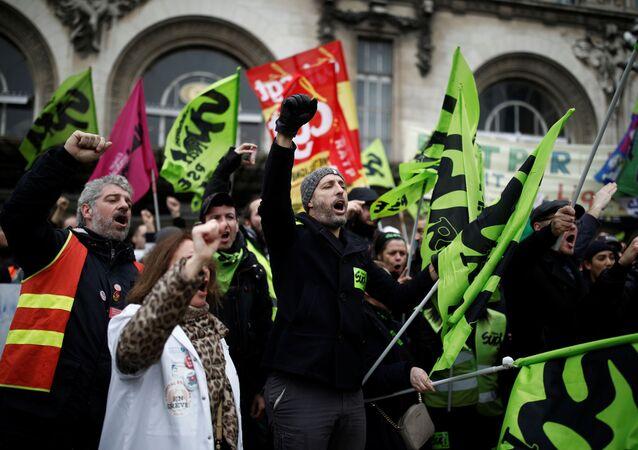 Protestas sindicales en Francia