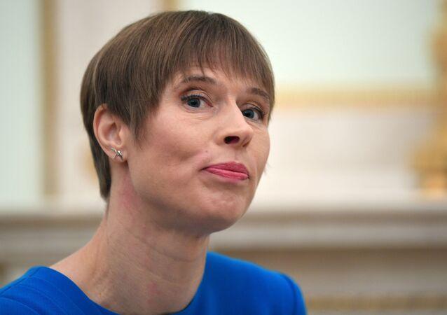 Kersti Kaljulaid, presidenta de Estonia