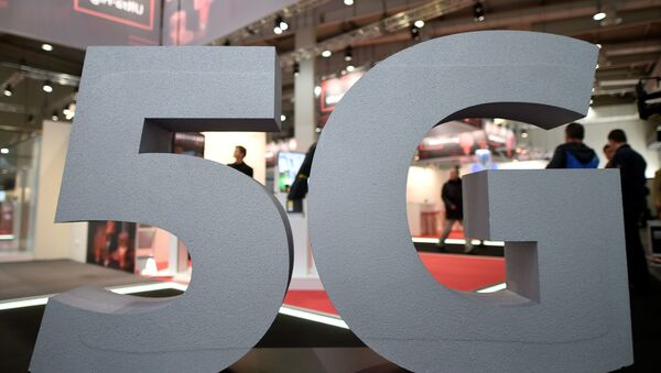 El logo de la red 5G - Sputnik Mundo