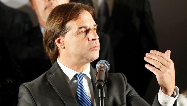 El presidente electo de Uruguay Luis Lacalle Pou - Sputnik Mundo