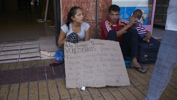 Migrantes venezolanos en Chile - Sputnik Mundo