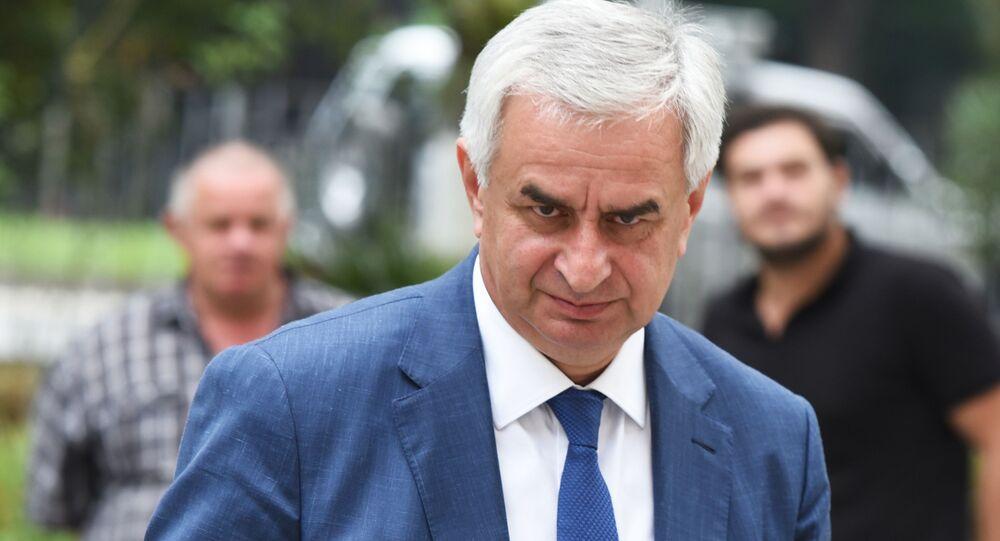 Raúl Jadzhimba, presidente de Abjasia