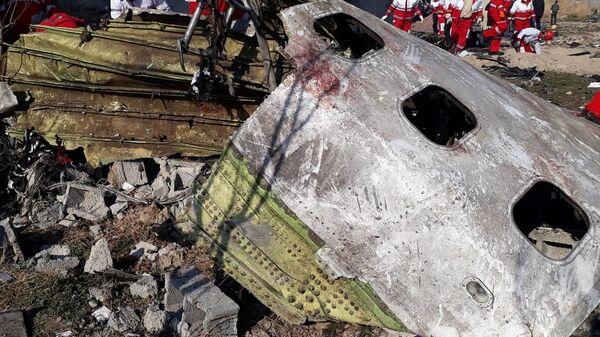 El Boeing 737 de la aerolínea Ukraine International Airlines siniestrado cerca del aeropuerto de Teherán - Sputnik Mundo