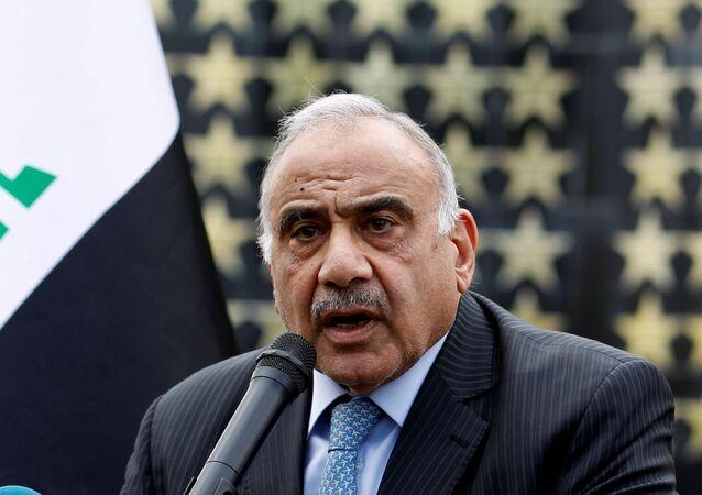 El primer ministro en funciones de Irak, Adel Abdul Mahdi