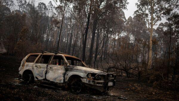 Последствия лесного пожара в Австралии - Sputnik Mundo