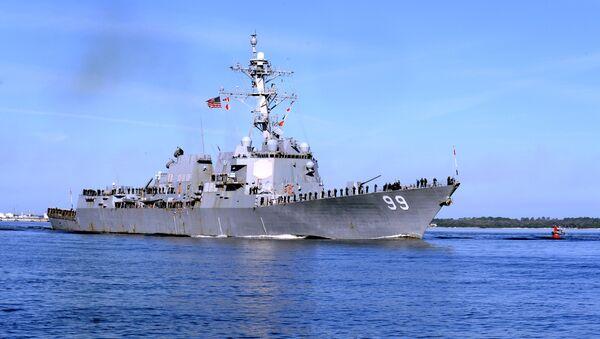 Destructor de EEUU USS Farragut - Sputnik Mundo