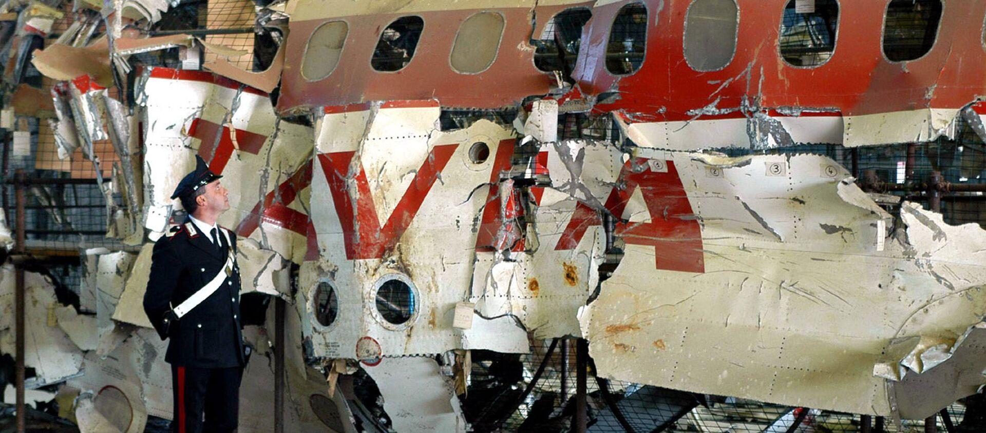Los restos del avión DC-9-15 de Aerolinee Itavia, derribado en junio de 1980 - Sputnik Mundo, 1920, 11.01.2020