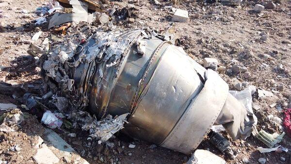 Restos del Boeing 737 ucraniano derribado en Irán - Sputnik Mundo