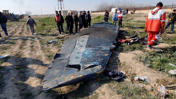 Fragmento del Boeing 737 siniestrado en Irán - Sputnik Mundo