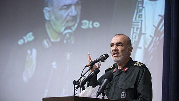 El general Hossein Salami, comandante de la Guardia Revolucionaria iraní (archivo) - Sputnik Mundo
