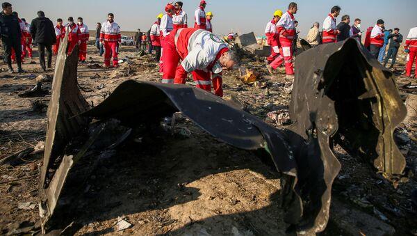 El lugar del siniestro del avión ucraniano en Irán - Sputnik Mundo