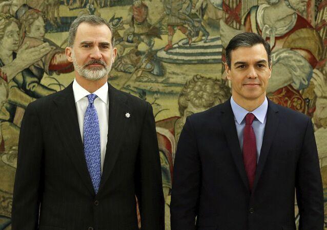El Rey Felipe VI y Pedro Sánchez, presidente del Gobierno español