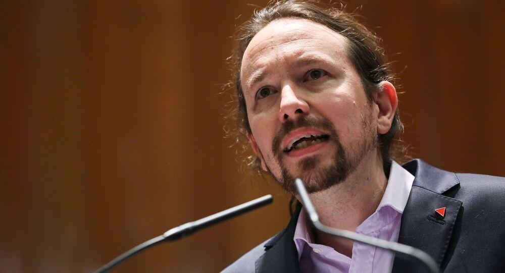 Pablo Iglesias, el nuevo vicepresidente segundo y el líder del partido progresista Unidas Podemos