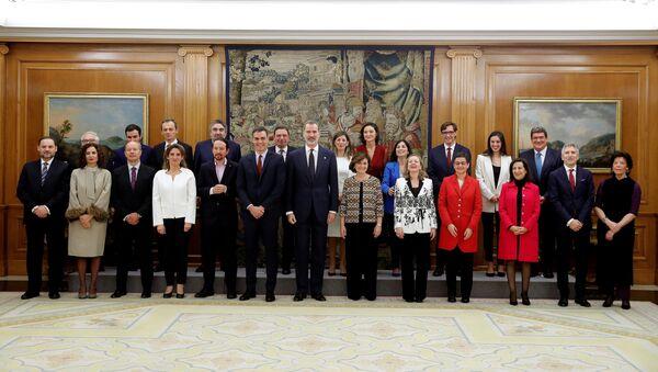 Estreno del Gobierno de coalición de Pedro Sánchez en España, el 13 de enero de 2020 - Sputnik Mundo