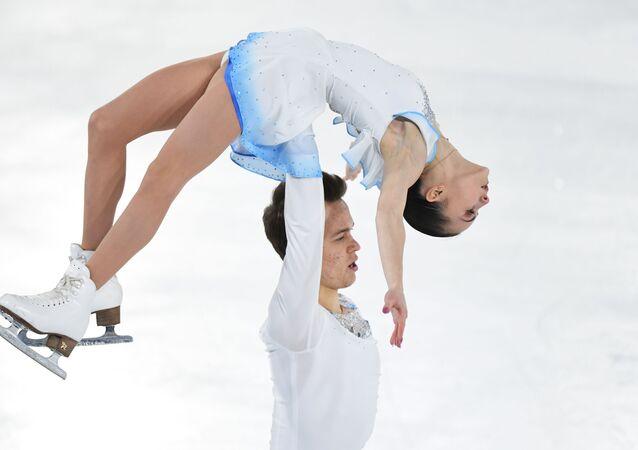 Apollinaria Panfílova y Dmitri Rilov en los Juegos Olímpicos de la Juventud