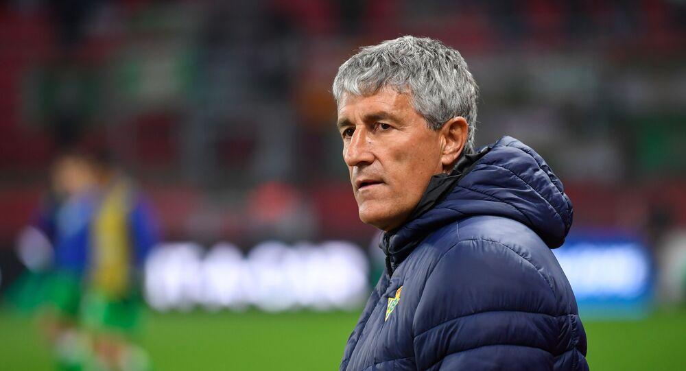 Quique Setién, entrenador español