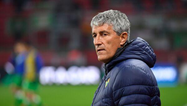 Quique Setién, entrenador español - Sputnik Mundo