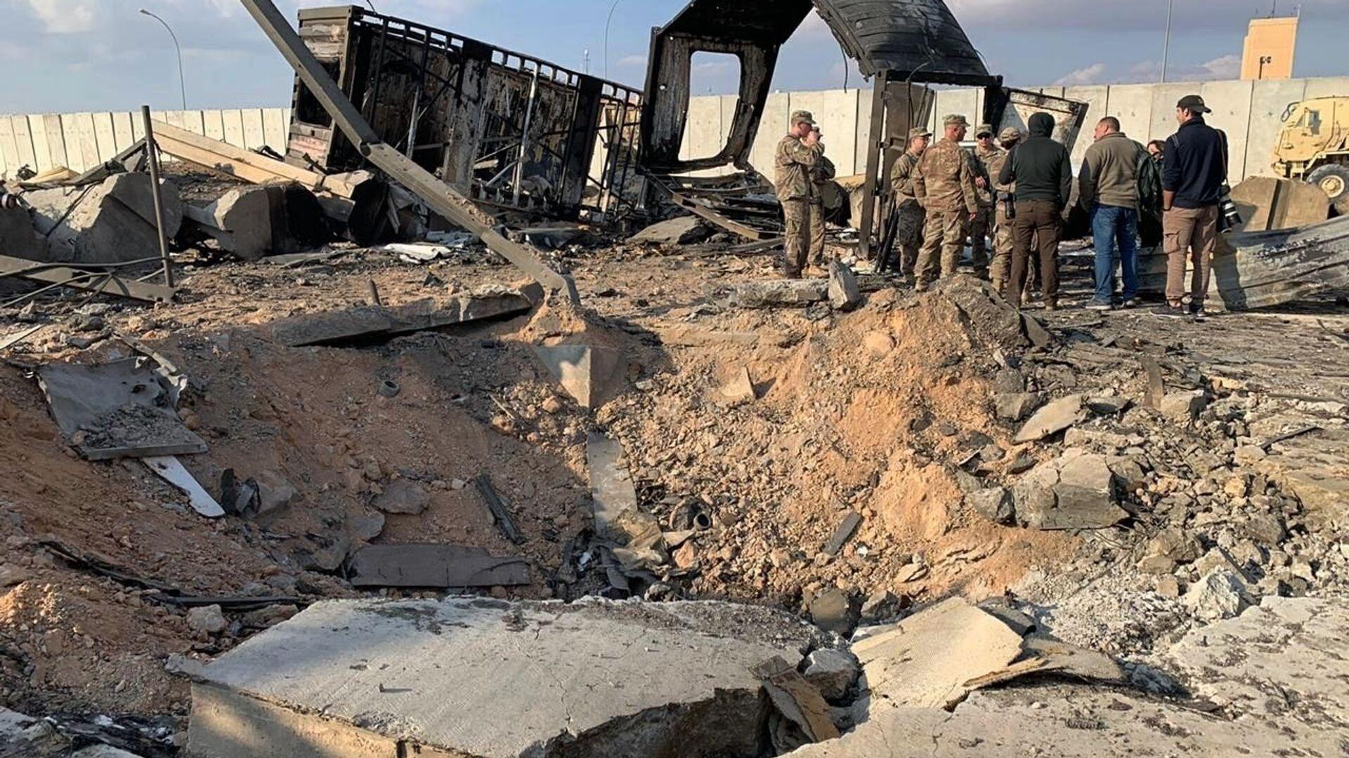 La base iraquí de Ain al Asad tras un ataque (archivo) - Sputnik Mundo, 1920, 20.06.2021