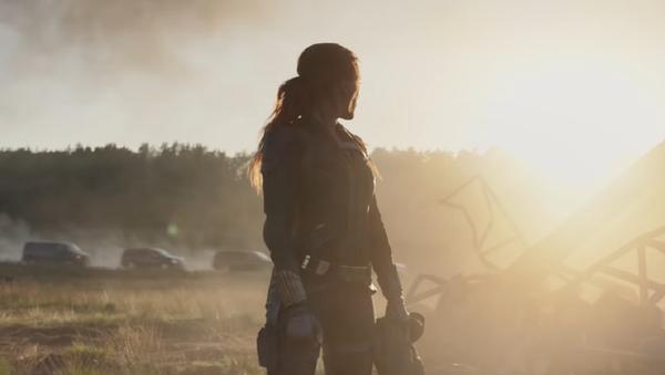 Scarlett Johansson en 'Black Widow' (captura de pantalla) - Sputnik Mundo