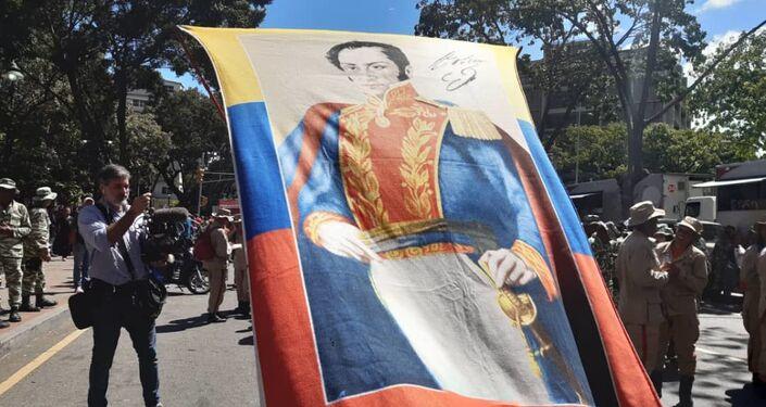 Seguidores del Gobierno venezolano se movilizan en Caracas por la paz y en apoyo al presidente Nicolás Maduro