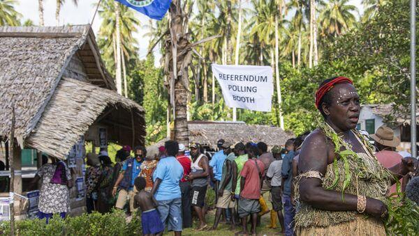 Votación del referéndum para la independencia de Bougainville - Sputnik Mundo