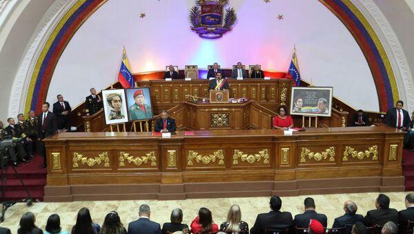 Presidente Nicolás Maduro presenta Mensaje Anual a la Nación 2019 desde la Asamblea Nacional Constituyente - Sputnik Mundo