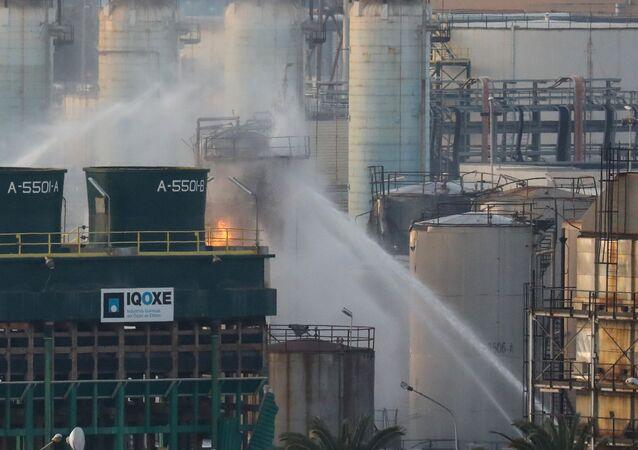 La planta petroquímica en Tarragona tras la explosión