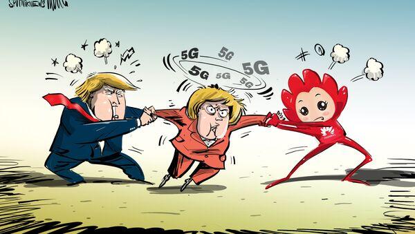 La guerra entre EEUU y Huawei por el corazón de Merkel - Sputnik Mundo