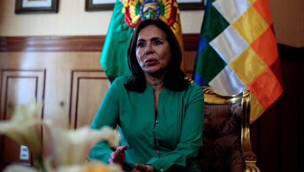 Karen Longaric, la canciller de facto de Bolivia - Sputnik Mundo