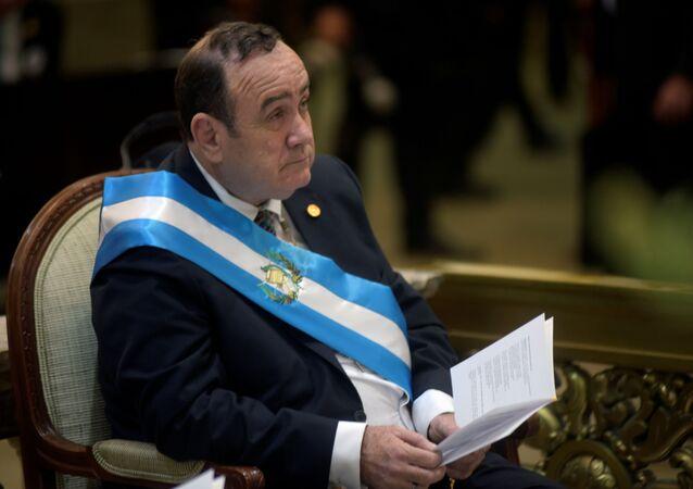 Alejandro Giammattei, el presidente de Guatemala