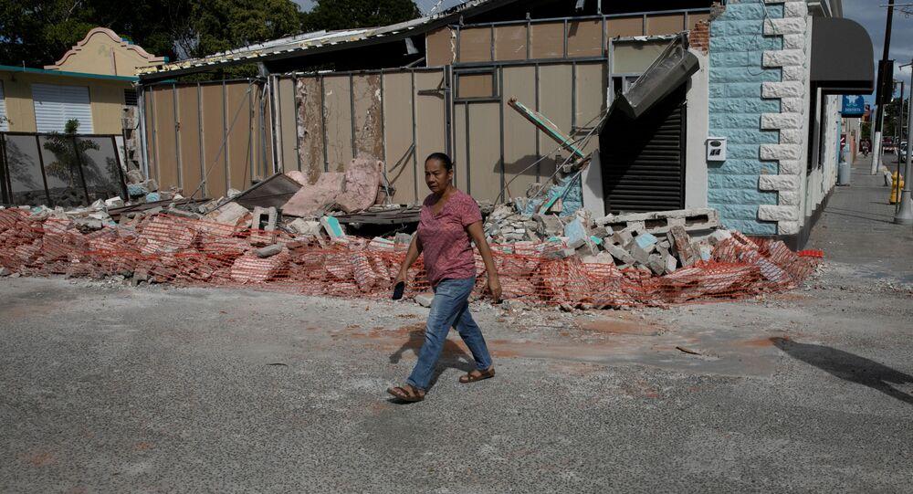 Las consecuencias del terremoto en Guanica, Puerto Rico
