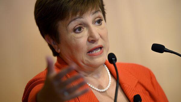 Kristalina Georgieva, directora ejecutiva del Fondo Monetario Internacional (FMI) - Sputnik Mundo