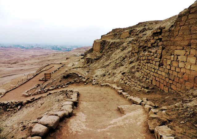El sitio arqueológico de Pachacamac, Perú